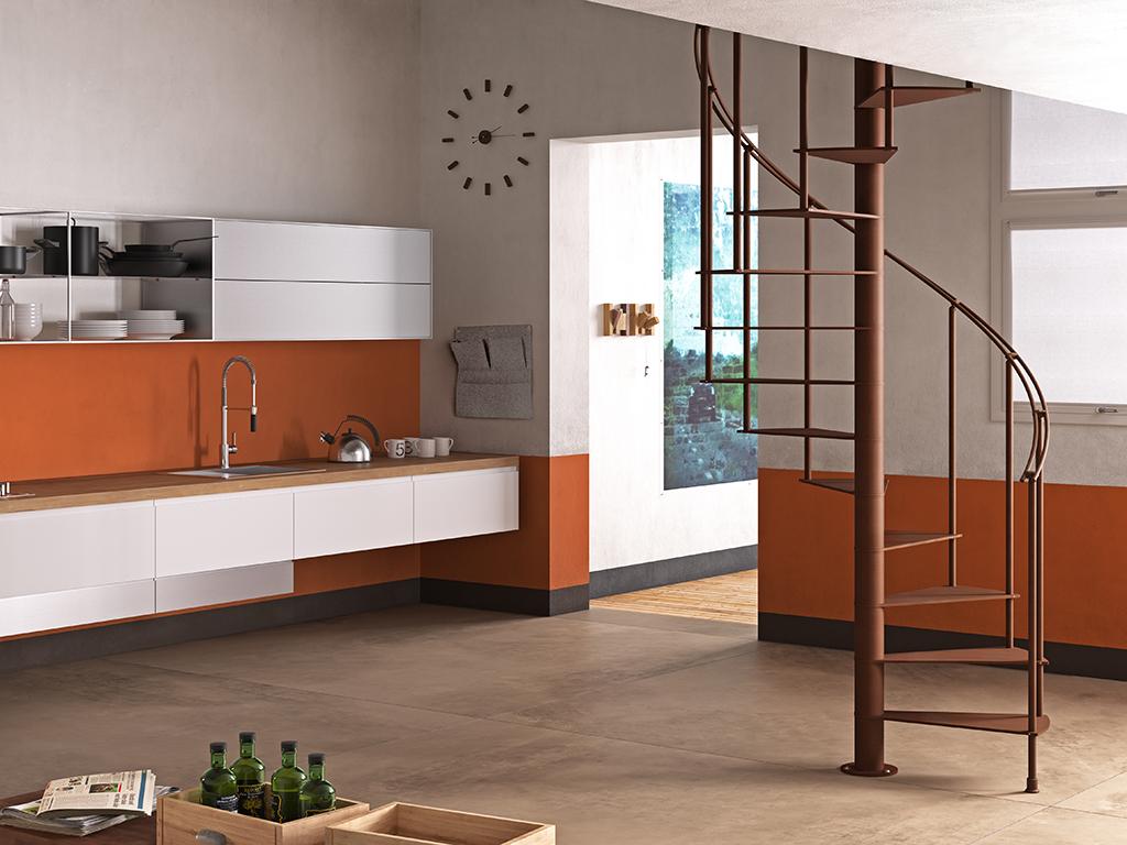 Scale a chiocciola per interni la moderna steel di fontanot bcasa